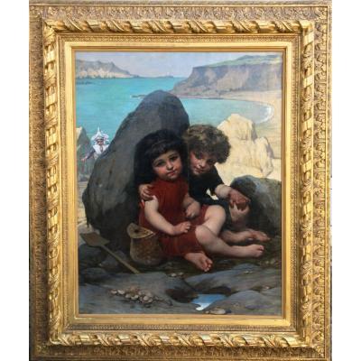 Les Enfants Derrière Le Rocher - Pierre Louis Joseph De Coninck