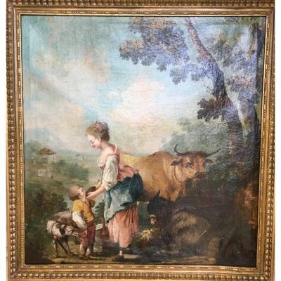 Scène Pastorale - XVIIIème.