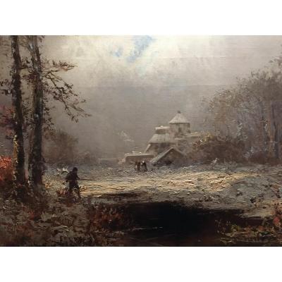 Paysage De Neige - Alfred  Godchaux