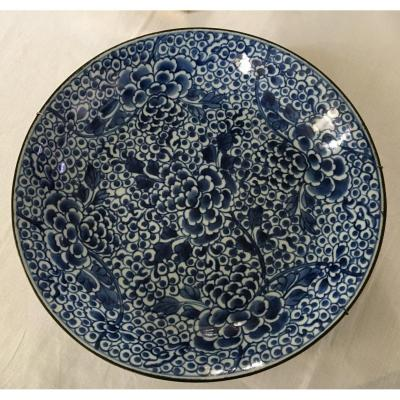 Blue White Dish, China, XVIIIth