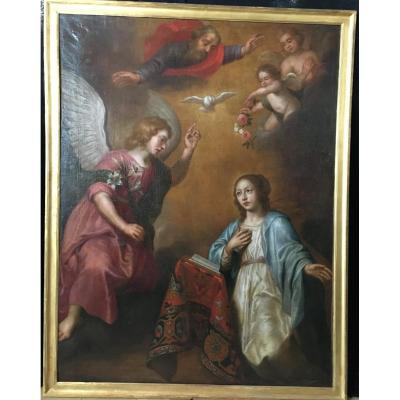 The Annunciation - Painting From 17th