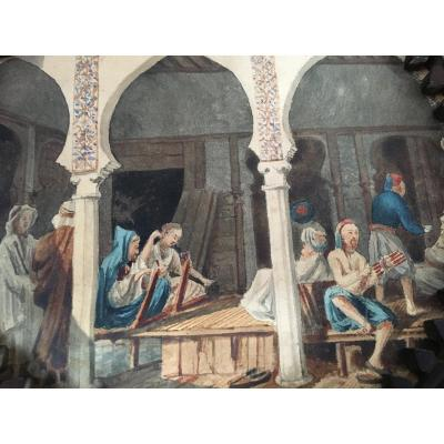 Orientalist Watercolor - François-edmond Pâris