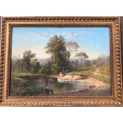 Pastel : Etang De La Rouillie En Forêt De Compiègne -  Michel Bouquet