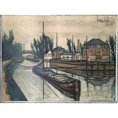 "Print ""canal De Saint Quentin"" After Bernard Buffet"