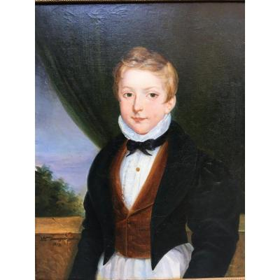 Portrait Of Young Boy By Mme Sauvageot- Galiot