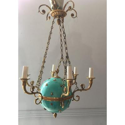 Empire Style Ball Chandelier