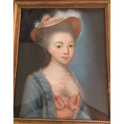 Pastel : Portrait De Femme XVIIIème