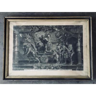 Le Triomphe De La Foi De Pierre Paul Rubens - Gravé Par François Ragot -