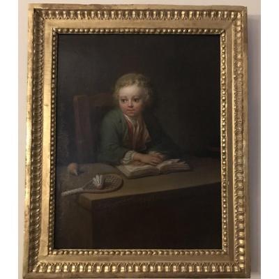 Portrait De Jeune De Garçon à La Lecture