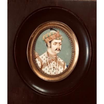 Miniature Sur Ivoire  - XIXème