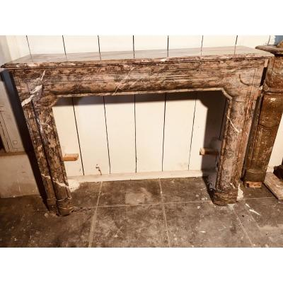 Louis XIV Style Fireplace In Marble.