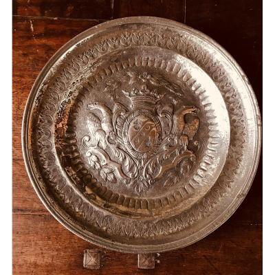 Pewter Dish - XVIIIth