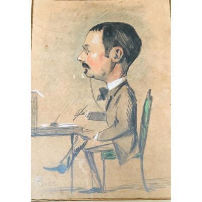 Caricature d'Un Homme De Lettre