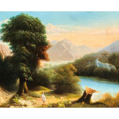 Lake Landscape - Early XIXth