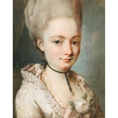 Pastel XVIIIème ; Portrait De Femme