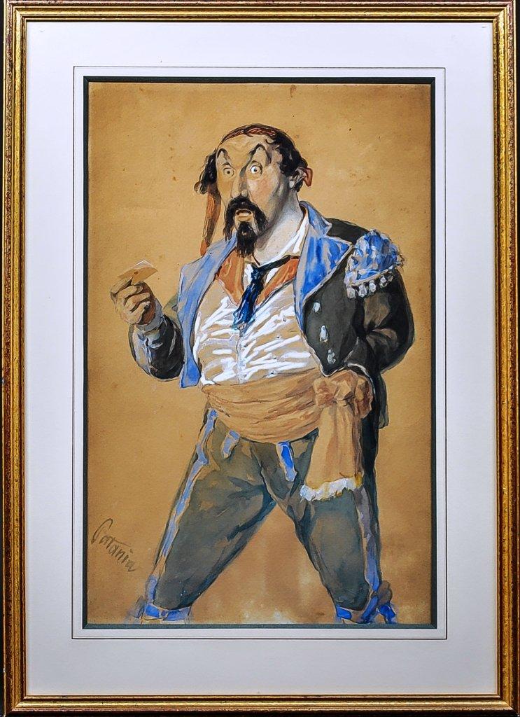 Patania Guiseppé 1780--1852  personnage de théâtre