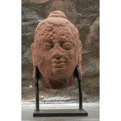 Head Of Buddha Tibet -inde XIV -xv °