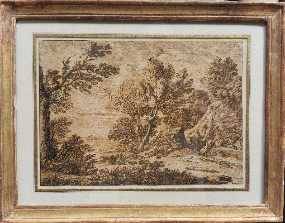 ONOFRIO Crecenzo (1634-1698/1714) Paysage Au Clair De Lune-photo-2