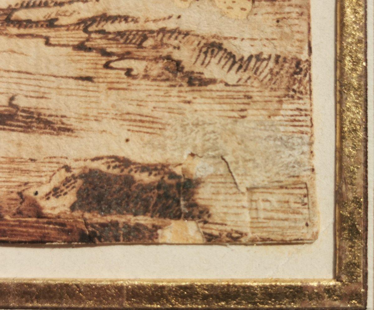 ONOFRIO Crecenzo (1634-1698/1714) Paysage Au Clair De Lune-photo-3