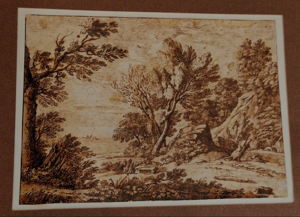 ONOFRIO Crecenzo (1634-1698/1714) Paysage Au Clair De Lune