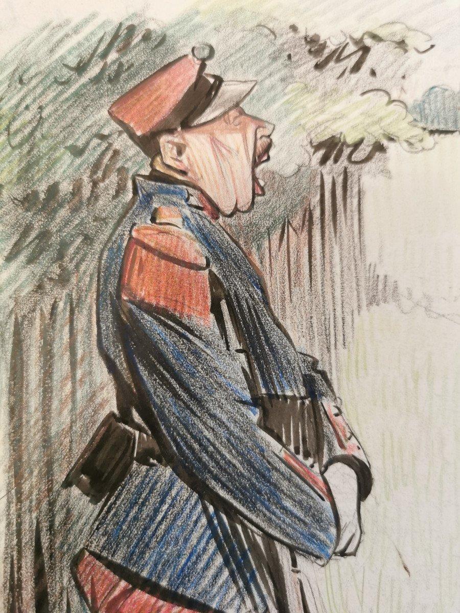 Hermann-paul  , René Georges (1864-1940) Aux Courses-photo-2