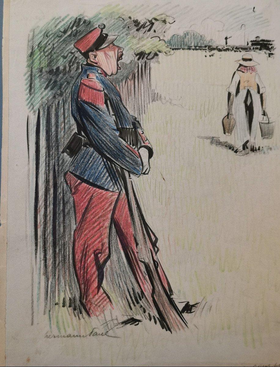 Hermann-paul  , René Georges (1864-1940) Aux Courses