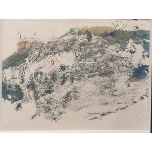 Maar Dora (1907-1997)  Gouache Paysage De Ménerbes