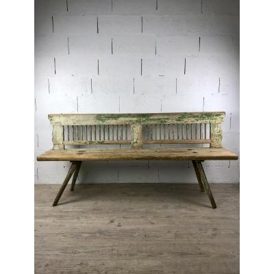 Green Pine Countryside Bench From Alsace