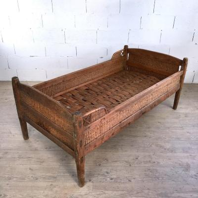 Swedish Rattan And Wicker Bed
