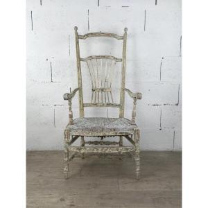Chaise De Nourrice En Bois Peint