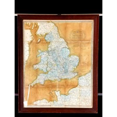 Carte Anglaise Cruchley XIXème Siécle