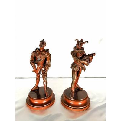 Paire De Statues En Bronze XIXéme Siècle, Alfred Barye