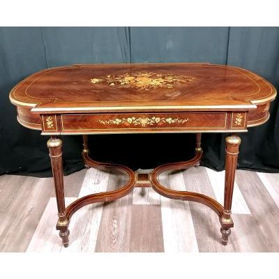 Table De Milieu Marqueterie Napoléon III