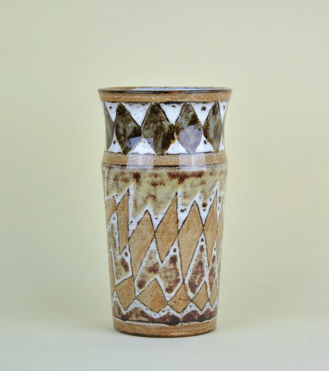 Atelier Du Vieux Moulin, Vase With Geometric Decor