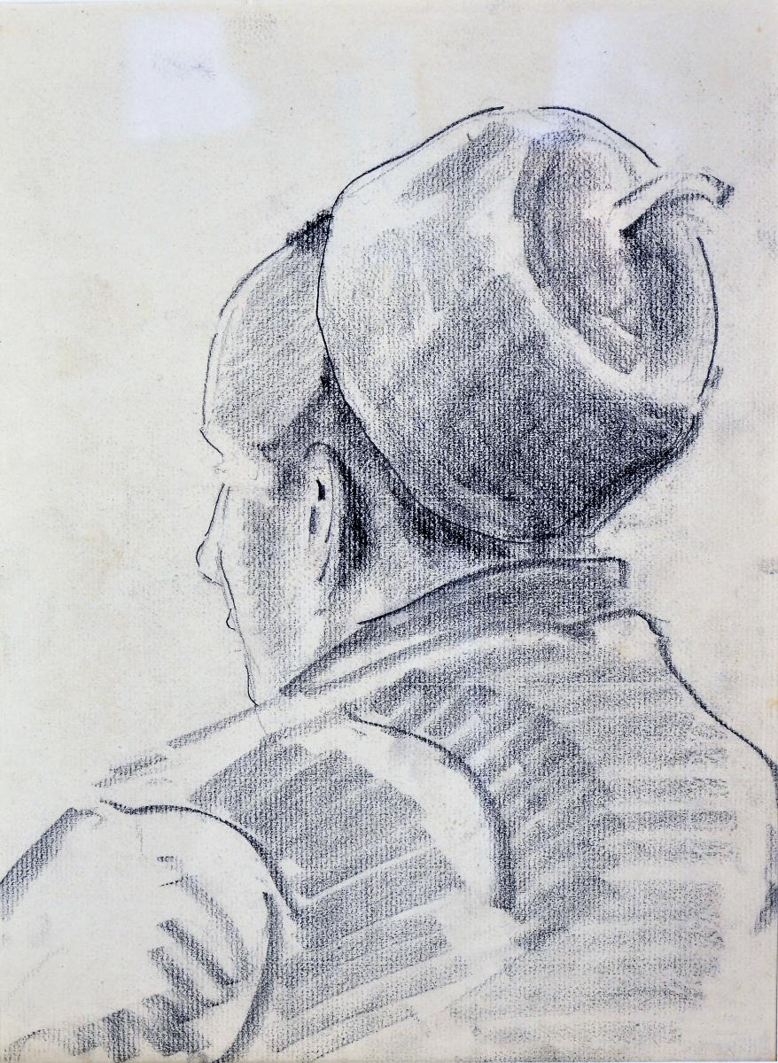 Gustave Patriarche, Dessin Au Fusain