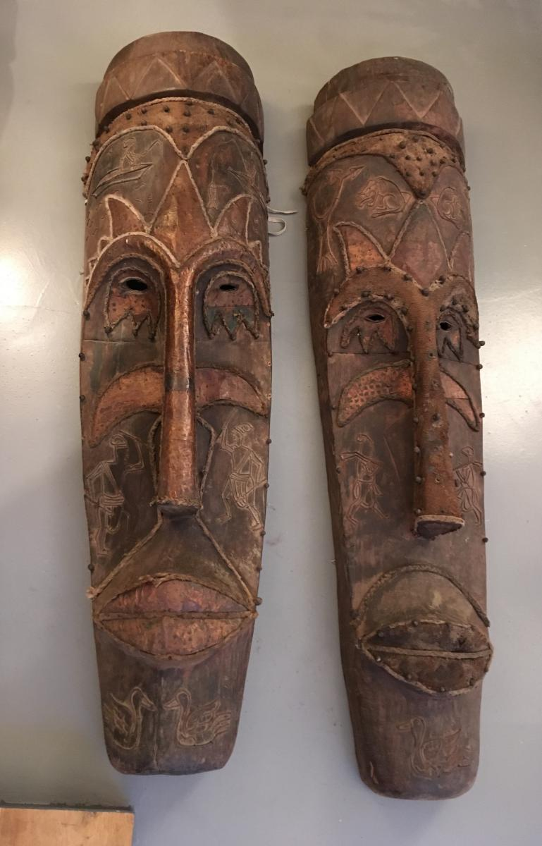 Pair Of Congo Colonial Mask