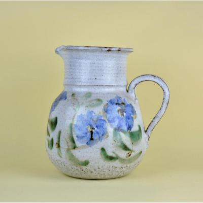 Albert Thiry, Large Pitcher With Flower Decor