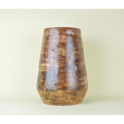 Alexandre Kostanda, Large Brown Vase