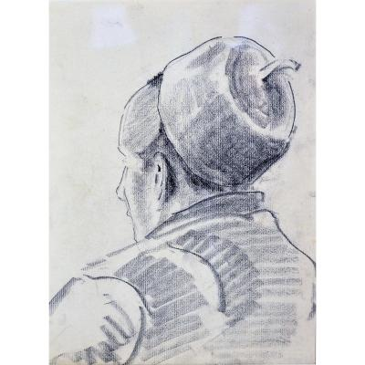 Gustave Patriarche, Charcoal Drawing