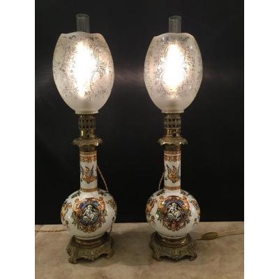 Pair Of Gien Lamps