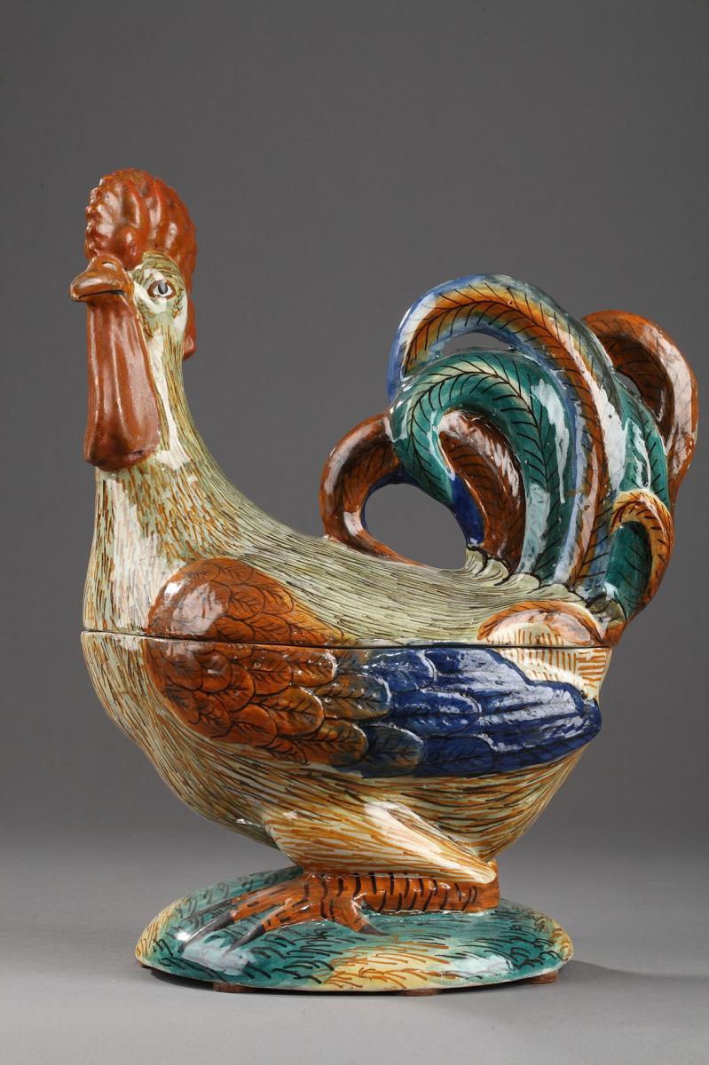 Pesaro (italy): Terrine Earthenware, Early 19th Century.