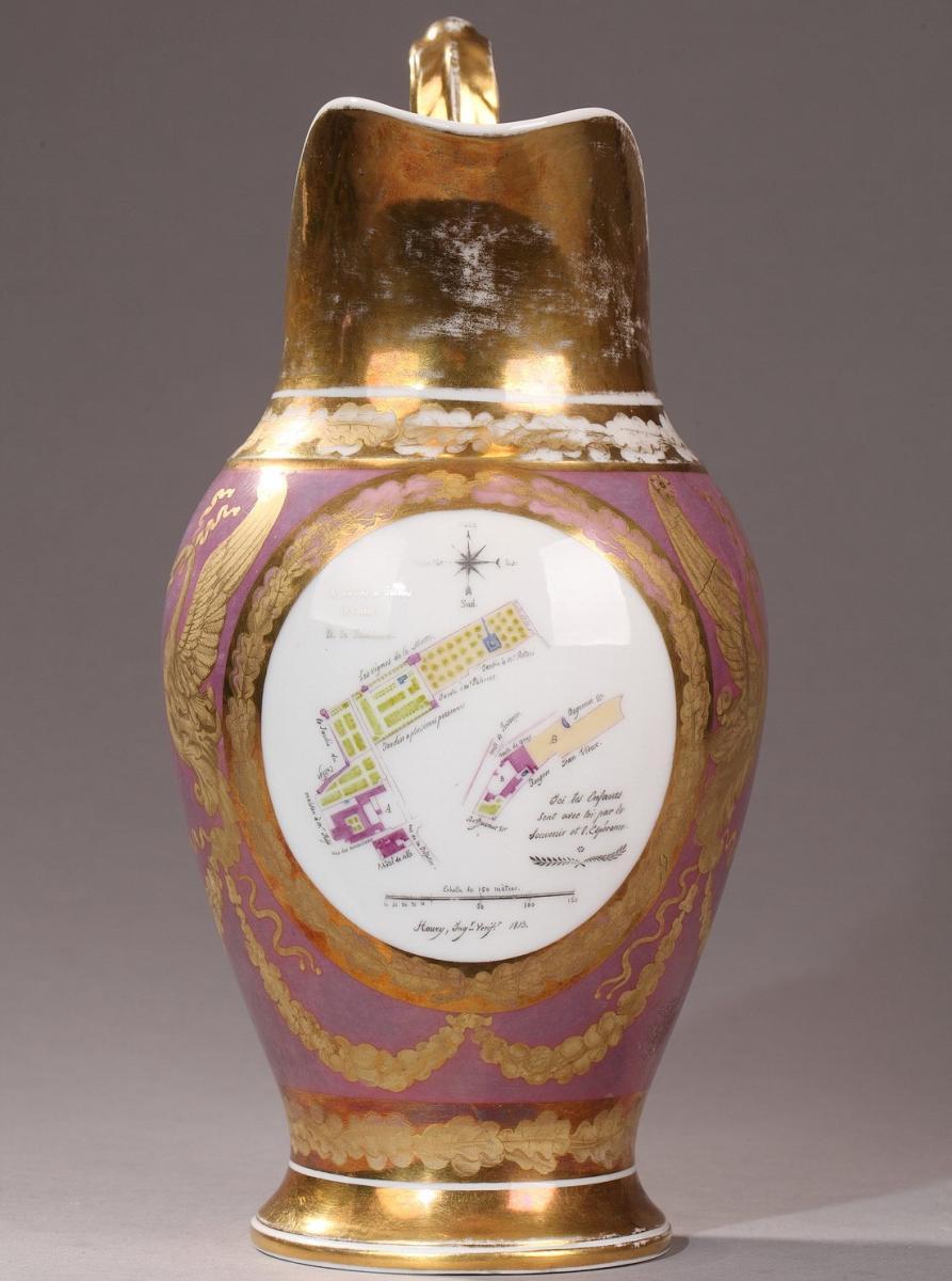 Paris: Manufacture Of Van Der Taelen: Porcelain Jug, Early 19th Century