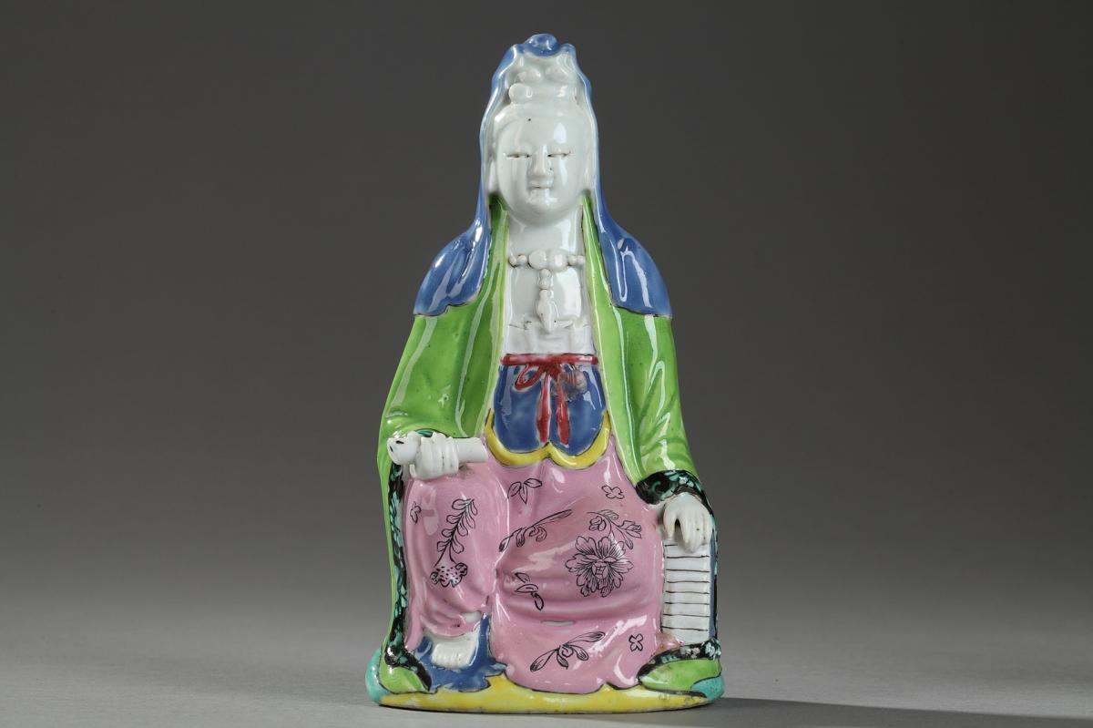 Chine : Figurine Représentant Une Guanyin, Fin 18ème Siècle