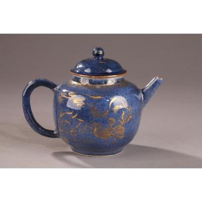 """Chine : Theière """"bleu Poudré"""" Kangxi (1662 - 1722)"""