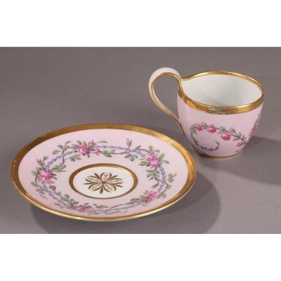 Berlin: Cup And Saucer, Dated 1824.