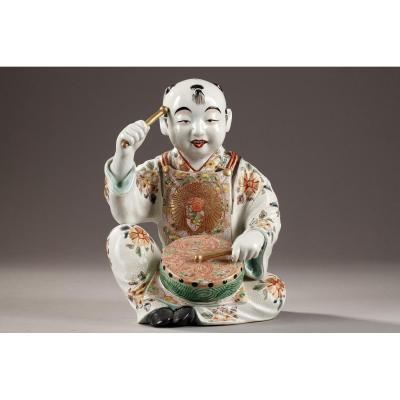 Japon : Grande Figurine Deuxième Moitié Du 19ème Siècle