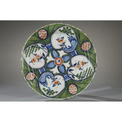 Delft, Dish With Four Hearts, 18th Century