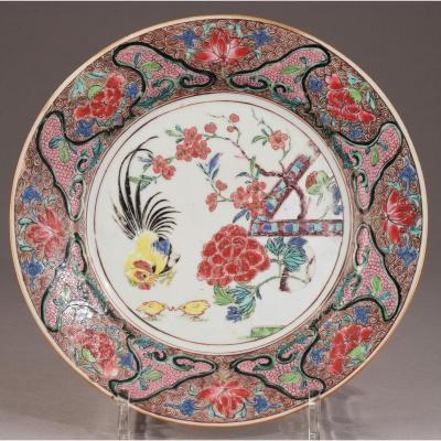 Assiette Porcelaine De Chine Période Yongzheng 1723 – 1735