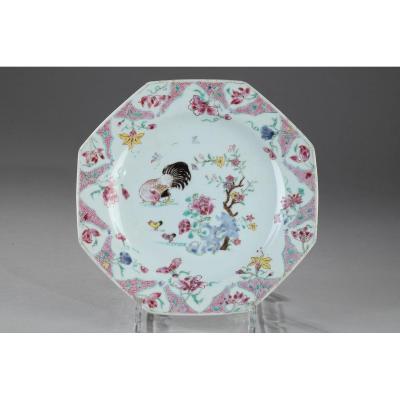 Assiette Porcelaine De Chine Période Yongzcheng 1723 – 1735