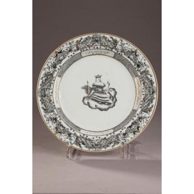 Assiette Porcelaine De Chine Période 18ème siècle